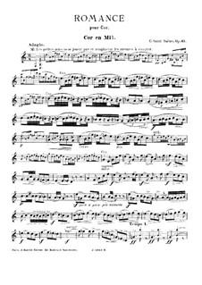 Романс для валторны (или виолончели) и фортепиано, Op.67: Романс для валторны (или виолончели) и фортепиано by Камиль Сен-Санс