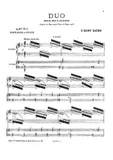 Дуэты для двух фортепиано, Op.8bis: Дуэты для двух фортепиано by Камиль Сен-Санс