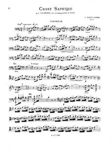 Chant saphique, Op.91: Chant saphique by Камиль Сен-Санс