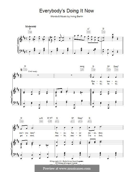 Everybody's Doing It (Now): Для голоса и фортепиано (или гитары) by Ирвинг Берлин