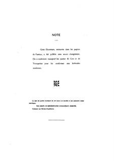 Ouverture d'un opéra comique inachevé: Партитура by Камиль Сен-Санс