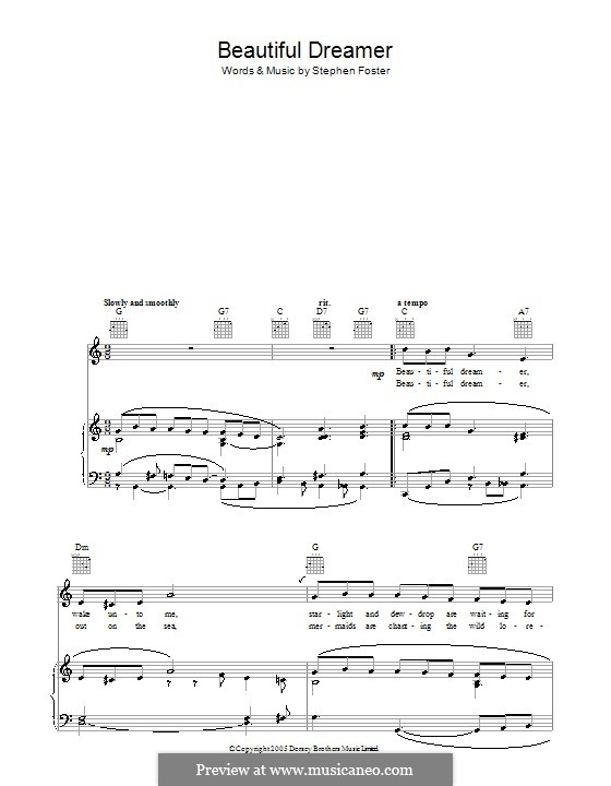Beautiful Dreamer: Для голоса и фортепиано (или гитары) by Стефен Фостер