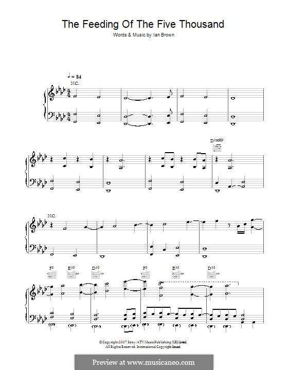 The Feeding of the Five Thousand: Для голоса и фортепиано (или гитары) by Ian Brown