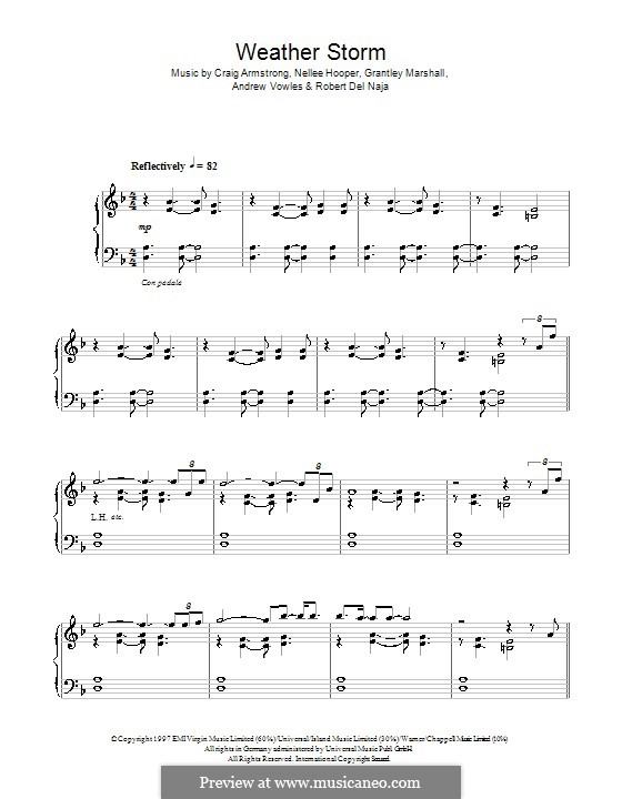 Weather Storm 98 (Massive Attack): Для фортепиано by Andrew Vowles, Grantley Marshall, Nellee Hooper, Robert Del Naja