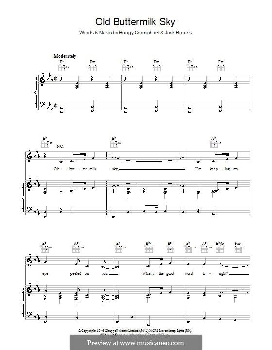 Old Buttermilk Sky: Для голоса и фортепиано (или гитары) by Jack Brooks