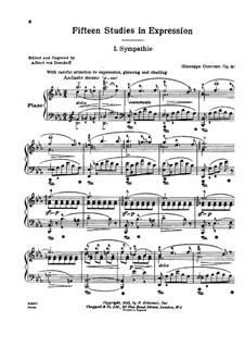 Пятнадцать этюдов, Op.44: Пятнадцать этюдов by Джузеппе Конконе