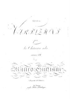 Восемь вариаций для гитары, Op.6: Для одного исполнителя by Мауро Джулиани