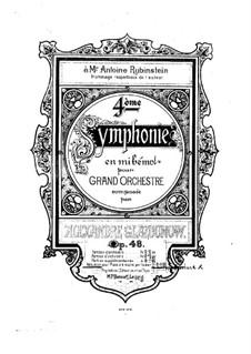 Симфония No.4 ми-бемоль мажор, Op.48: Для фортепиано в 4 руки by Александр Глазунов