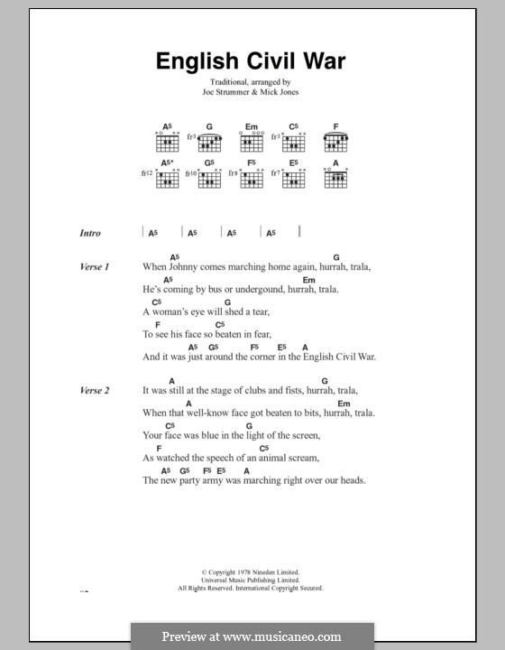 English Civil War (The Clash): Текст, аккорды by Joe Strummer, Mick Jones