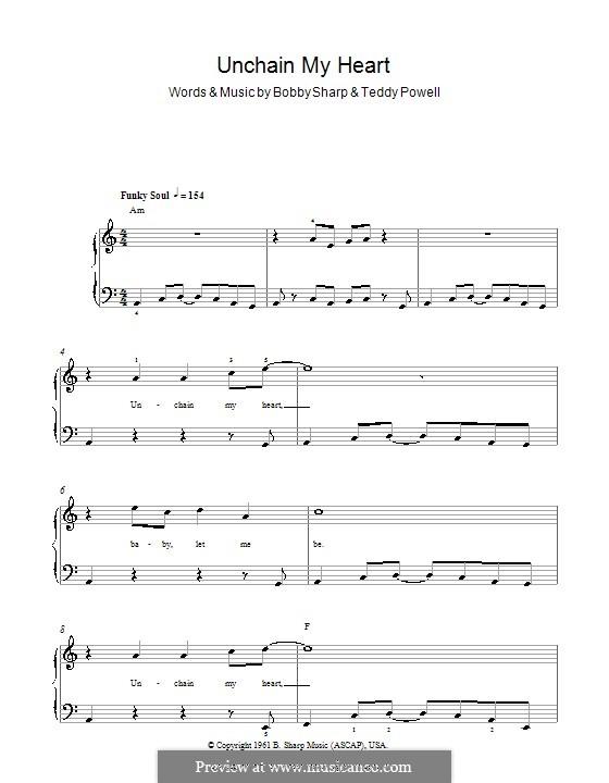 Unchain My Heart (Ray Charles): Для фортепиано (легкий уровень) by Bobby Sharp, Teddy Powell