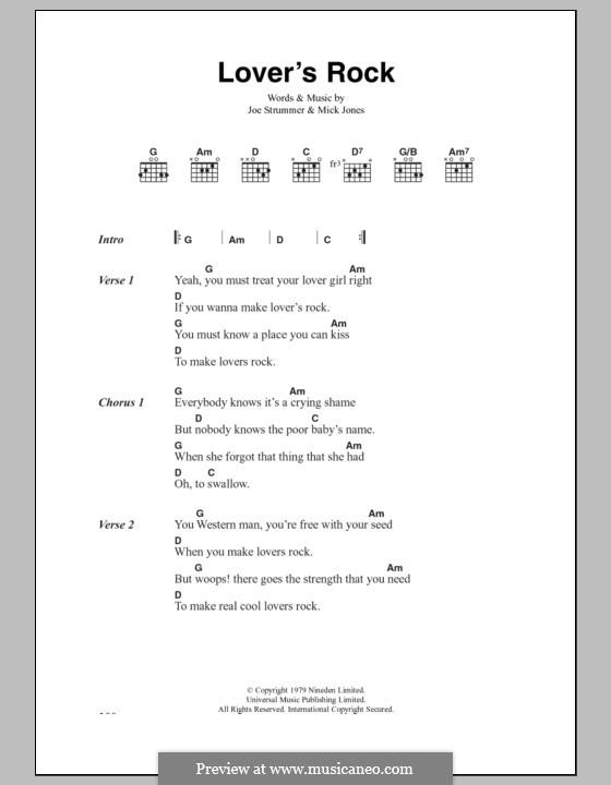 Lover's Rock (The Clash): Текст, аккорды by Joe Strummer, Mick Jones