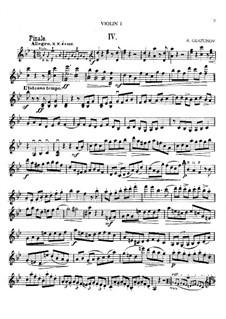 Струнный квартет на тему 'B la F': Часть М – партии by Александр Глазунов
