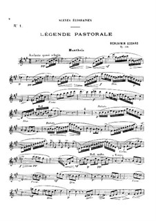 Légende pastorale, for Oboe and Piano, Op.138: Партитура, сольная партия by Бенжамин Годар