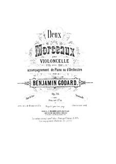Две пьесы для виолончели с оркестром, Op.36: Переложение для виолончели и фортепиано – партитура, сольная партия by Бенжамин Годар