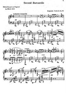 Баркарола No.2 фа мажор, Op.80: Баркарола No.2 фа мажор by Бенжамин Годар