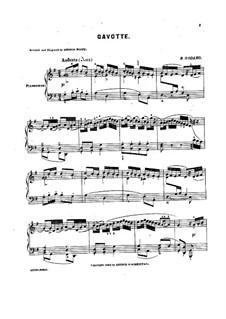 Гавот для фортепиано соль мажор, Op.81: Гавот для фортепиано соль мажор by Бенжамин Годар