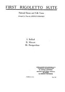 Фрагменты: Риголетто No.1, для фортепиано by Джузеппе Верди