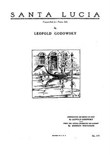 Санта Лючия: Для фортепиано by folklore