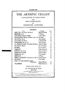 Скерцо для виолончели и фортепиано, Op.12: Скерцо для виолончели и фортепиано by Даниэл ван Гунс