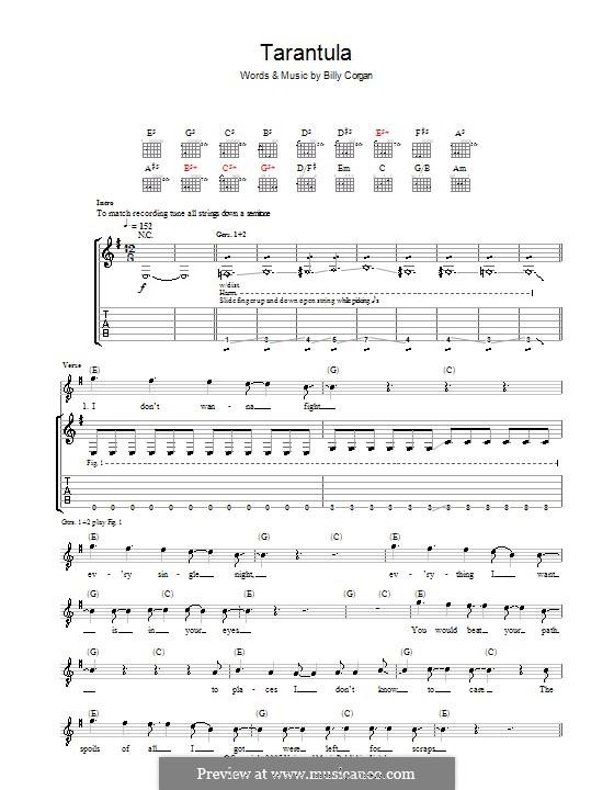 Tarantula (The Smashing Pumpkins): Гитарная табулатура by Billy Corgan