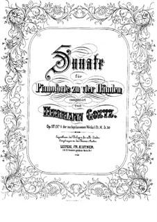 Соната для двух фортепиано, Op.17: Соната для двух фортепиано by Германн Гёц