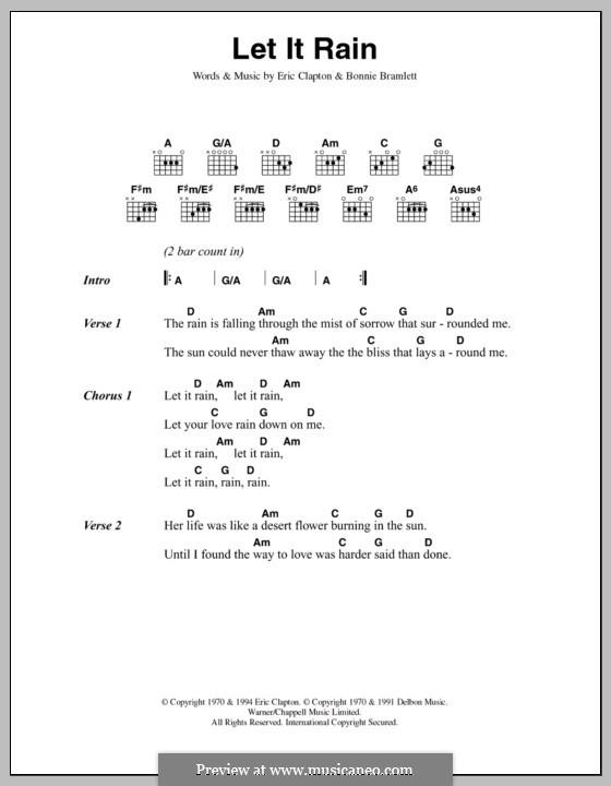 Let It Rain: Текст, аккорды by Bonnie Bramlett