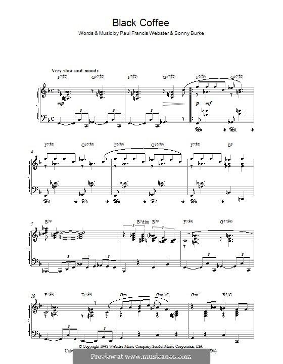 Black Coffee: Для фортепиано by Sonny Burke