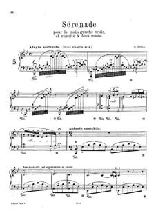 Serenade pour la main gauche seule et ensuite à deux mains: Для одного исполнителя by Александр Эдуар Гориа
