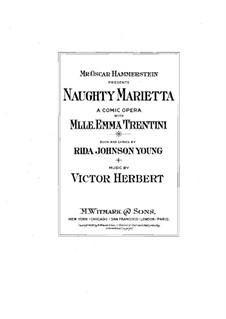 Капризная Мариэтта: Клавир с вокальной партией by Виктор Герберт
