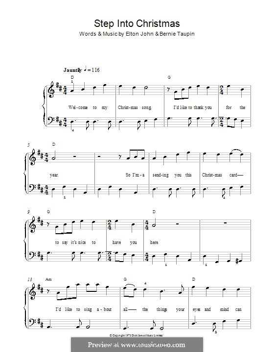 Step Into Christmas: Для фортепиано (легкий уровень) by Elton John