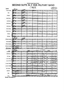 Две сюиты для военного оркестра, Op.28: Сюита No.2 – партитура by Густав Холст