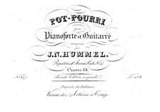 Попурри для фортепиано и гитары, Op.53: Партии by Иоганн Непомук Гуммель