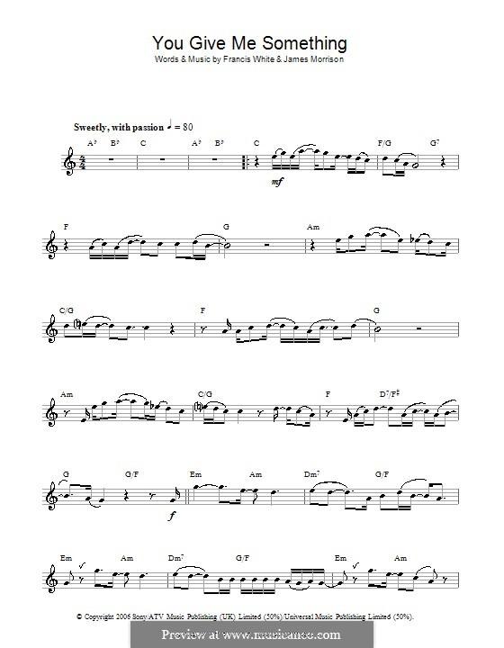 You Give Me Something: Для флейты by Eg White, James Morrison