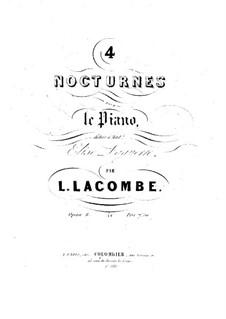 Четыре ноктюрна, Op.8: Четыре ноктюрна by Луи Лакомб