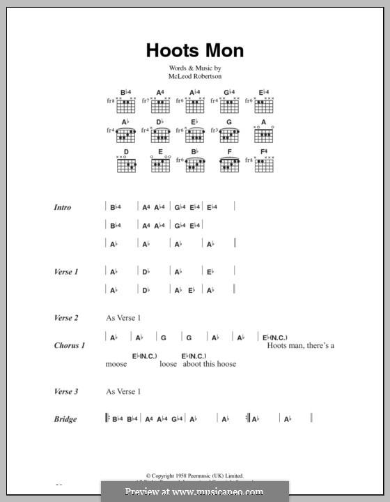Hoots Mon (Lord Rockingham's XI): Текст и аккорды by McLeod Robertson