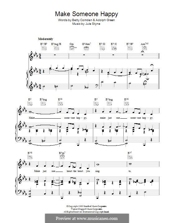 Make Someone Happy: Для голоса и фортепиано (или гитары) by Jule Styne