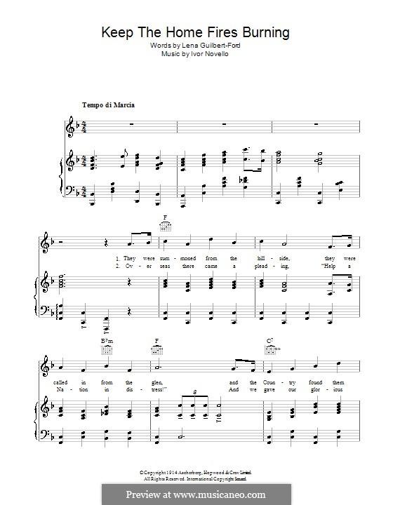 Keep the Home Fires Burning (John McCormack): Для голоса и фортепиано (или гитары) by Ivor Novello