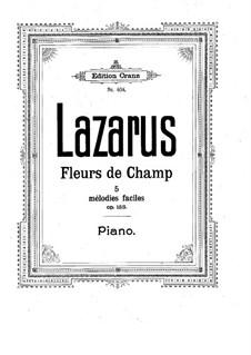 Полевые цветы, Op.153: Полевые цветы by Густав Лазарус