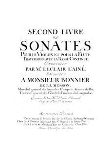 Двенадцать сонат для скрипки или флейты и баса континуо, Op.2: Двенадцать сонат для скрипки или флейты и баса континуо by Жан-Мари Леклер