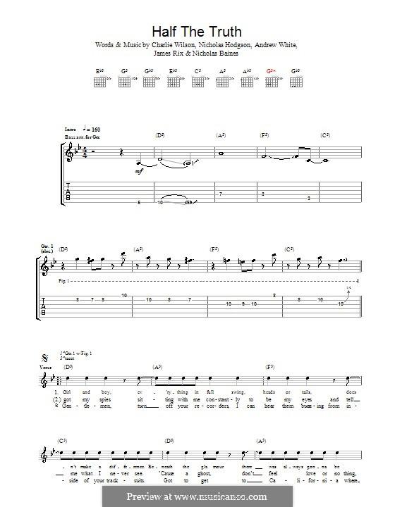 Half the Truth (Kaiser Chiefs): Для гитары с табулатурой by Andrew White, James Rix, Nicholas Baines, Nicholas Hodgson, Charles Wilson