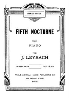 Ноктюрн No.5 ля-бемоль мажор, Op.52: Для фортепиано by Жозеф Лейбах