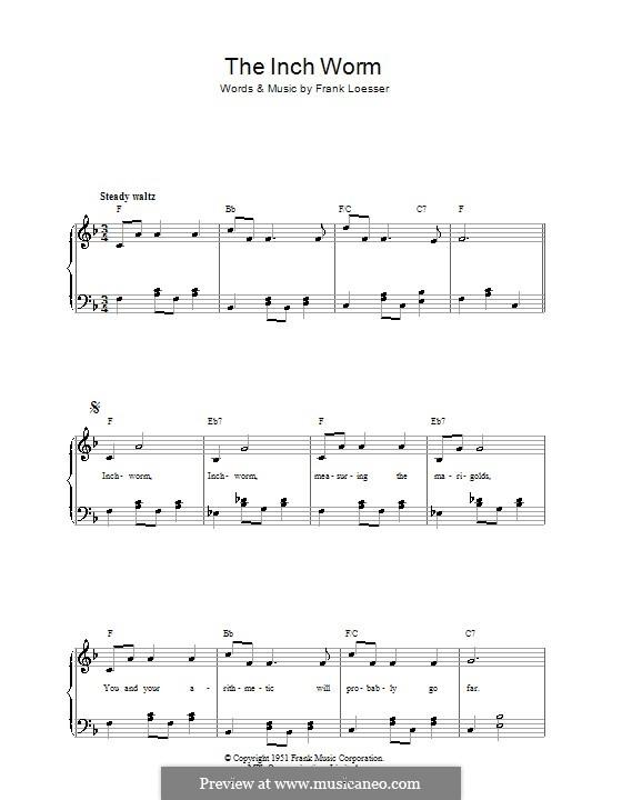 The Inch Worm (Paul McCartney): Для голоса и фортепиано by Frank Loesser