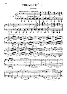 Симфоническая поэма No.5 'Прометей' для оркестра, S.99: Версия для фортепиано в 4 руки by Франц Лист