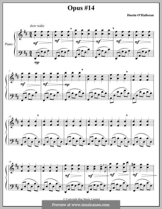Опус 14: Для фортепиано by Dustin O'Halloran