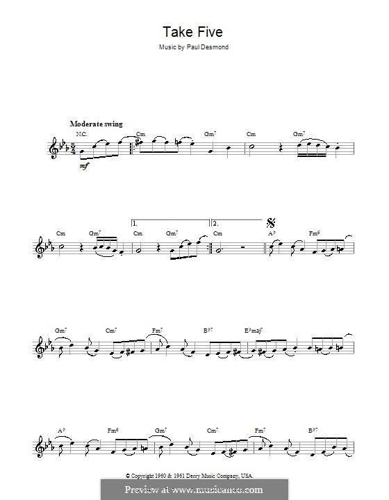 Take Five (Dave Brubeck): Для флейты by Paul Desmond