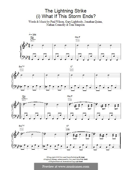 The Lightning Strike (Snow Patrol): Для голоса и фортепиано (или гитары) by Gary Lightbody, Jonathan Quinn, Nathan Connolly, Paul Wilson, Tom Simpson