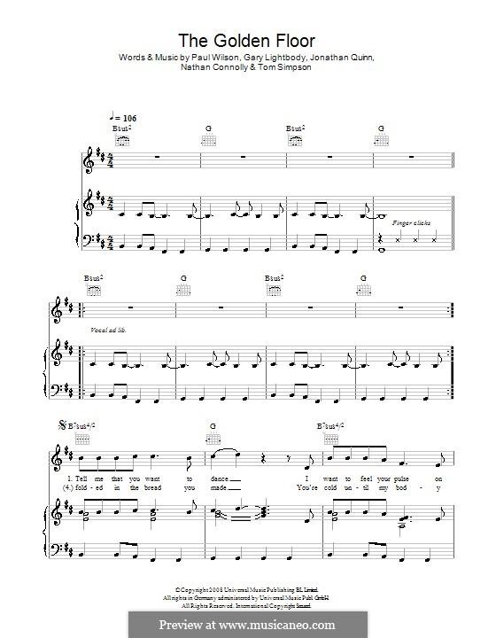 The Golden Floor (Snow Patrol): Для голоса и фортепиано (или гитары) by Gary Lightbody, Jonathan Quinn, Nathan Connolly, Paul Wilson, Tom Simpson