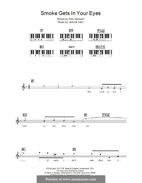 Smoke Gets in Your Eyes (from 'Roberta'): Для клавишного инструмента by Джером Керн