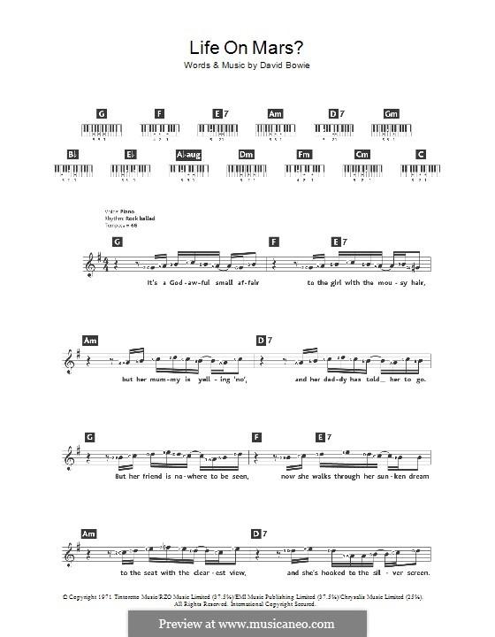 Life on Mars?: Для клавишного инструмента by David Bowie