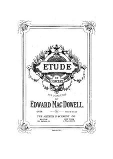 Концертный этюд, Op.36: Для фортепиано by Эдвард Макдоуэлл